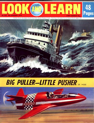 Big Puller -- Little Pusher. The Lloydsman tug and the BD-Micro.