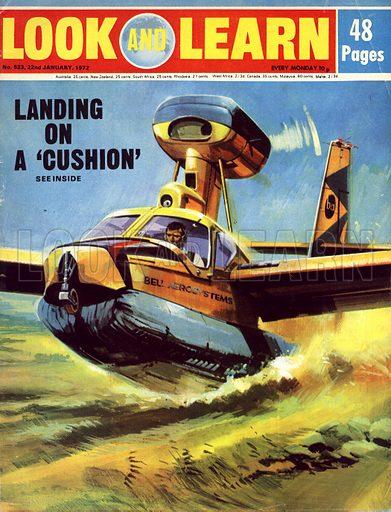 Landing on a 'Cushion'. The ACLS(air cusion landing system) in use on a de Havilland C-8 Buffalo STOL.