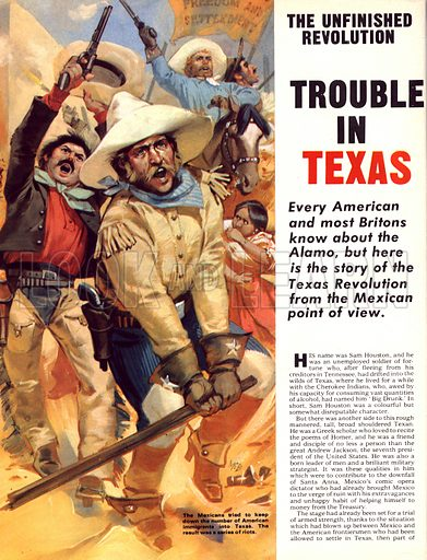 The Unfinished Revolution: Trouble in Texas. The Mexicans tried to keep down the number of American settlers immigrating into Texas, which led to a series of riots.