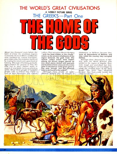 The World's Great Civilisations. The Greeks: The Home of the Gods. Early Greek civilisation.