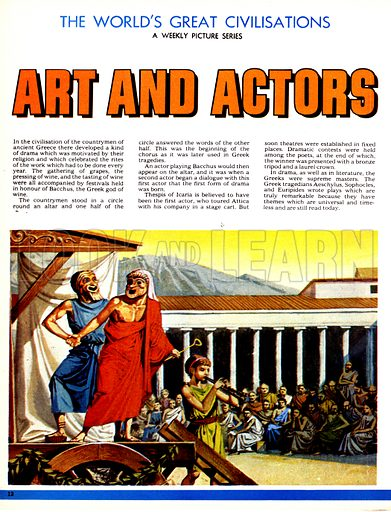 The World's Great Civilisations. Art and Actors. Theatre in ancient Greece.