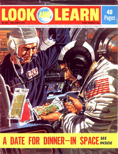 A Date for Dinner – In Space. 1975 saw the first joint Russian-American mission where astronauts and cosmonauts linked up in space.