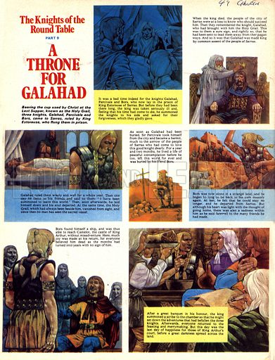 The Knights of the Round Table: A Throne for Galahad.