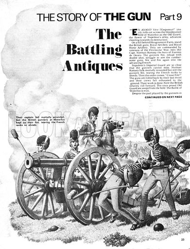 The Story of the Gun: The Battling Antiques. Battle of Waterloo.