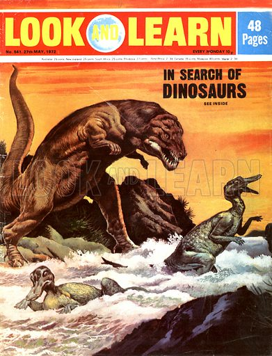 In Search of Dinosaurs. A megalosaurus goes hunting.