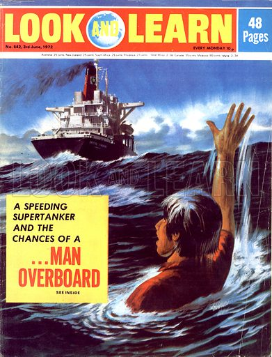 Man Overboard. How can it be possible to slam on the brakes of a supertanker if a man should fall overboard?.