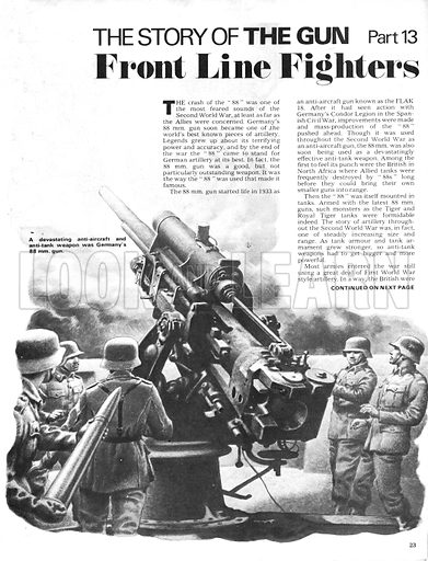 The Story of the Gun: Front Line Fighters. Germany's 88mm gun, a devastating anti-aircraft and anti-tank weapon.