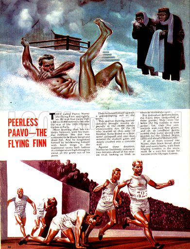 The Magic of the Olympics: Peerless Paayo - The Flying Finn. Paavo Nurmi, who won four races during the 1924 Paris Olympics, trained by rolling in the snows of Finland.