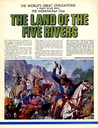 The World's Great Civilisations. The Indians: The Land of the Five Rivers. Arryan invaders of the 8th and 9th centuries.