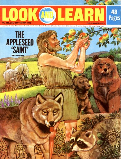 The Appleseed 'Saint'. When American settlers found orchards growing in the wilderness, they knew that Johnny Appleseed had been there. Appleseed, born John Chapman, was known for making incredible solitary journeys into the wilderness of Ohio in the early 19th century, his nickname earned from his habit of carrying a sack of apple seeds and planting them on his numerous journeys which have now become folk legends.