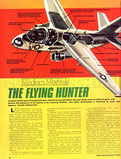 Modern Marvels: The Flying Hunter. The Lockheed S-3A Viking cut-away drawing and in action.