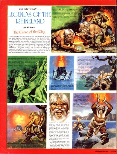 Legends of the Rhineland: The Curse of the Ring. The Ring of the Nibelungs. How Alberich stole the Rhine Gold from the nymphs known as the Rhine Daughters.