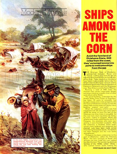 Modern Marvels: Ships Among the Corn. In the early 1880s, long before the tempremental Arkansas river was tamed, pioneers on their way West risked life and limb fording the swirling waters.