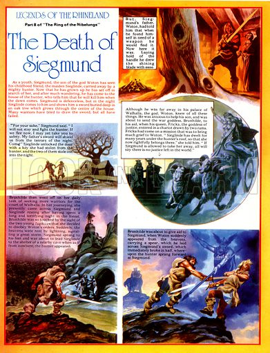 Legends of the Rhineland: The Death of Sigmund. Despite the interventions of Woton, his son Siegmund is killed by a hunter.
