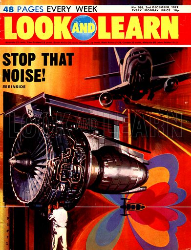 Stop That Noise! Scientists test jet engines to see if they can reduce the noise footprint of a Lockheed TriStar (seen top right).