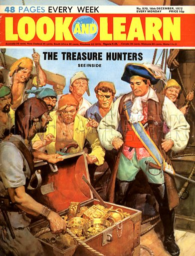 The Treasure Hunters: The Pirate's Hoard. Captain Kidd's lost treasure, the secret of which he took to the gallows in 1701.