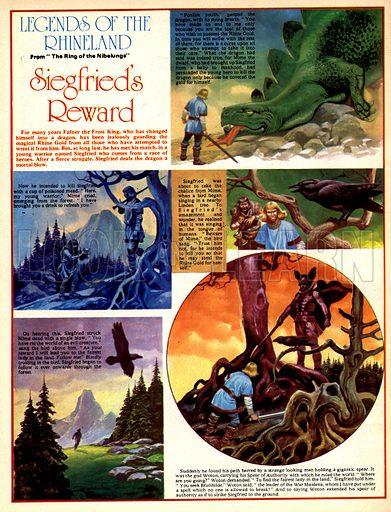 Legends of the Rhineland: Siegfried's Reward. Mime plans to kill Siegfried with poisoned mead.