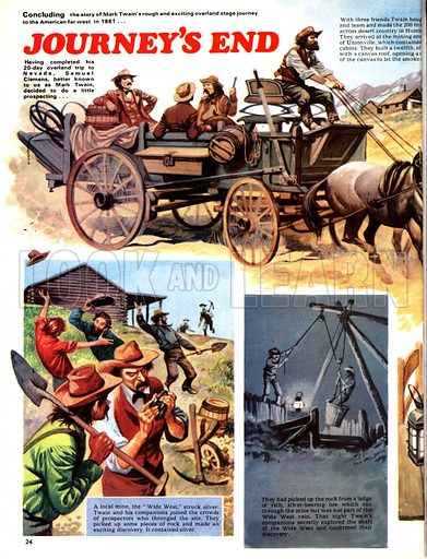 The Overland Stage: Journey's End. Samuel Clemens (Mark Twain) completes his trip west across the United States.