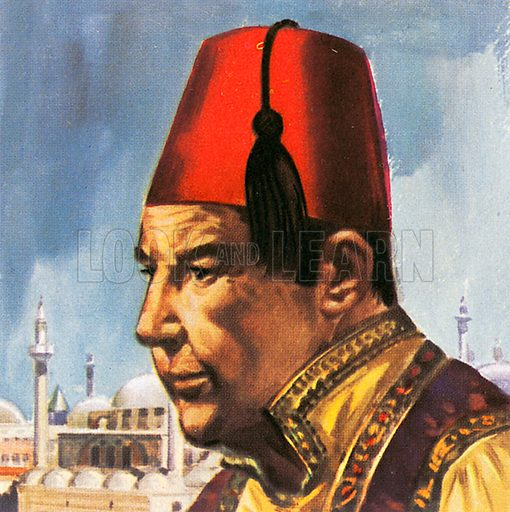 This hat is called a Fez, and is named after a town. The fez was standard men's dress in the Turkish empire.