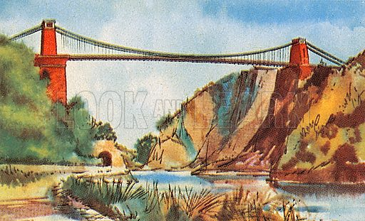 The Clifton Suspension Bridge over the River Avon is 702 feet long and spans a gorge near Bristol.