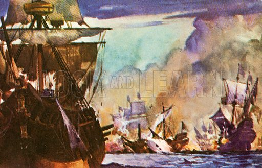 An English Poet Tennyson Laureate wrote the poem The Revenge about an Elizabethan sea-fight. It describes Greenville's single-handed fight against fifty-three Spanish ships.