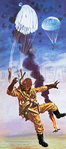 The parachute was invented in 1783. At first, they were made of silk, but nowadays they are made of synthetic fabrics.