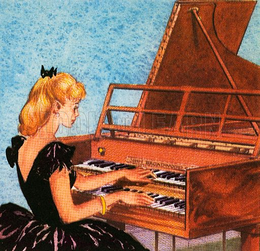 The harpsichord is an instrument which looks like a piano, but its strings are plucked to produce its unusual sounds.