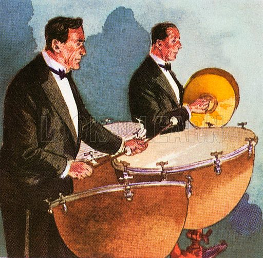 """The timpani are also known as """"kettle-drums"""". These instruments are the principal instruments of the percussion group of the orchestra."""