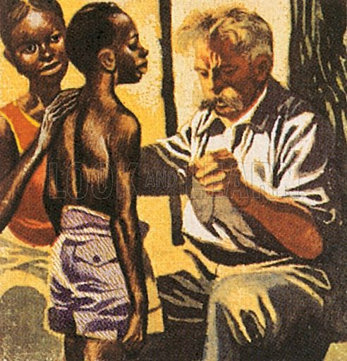 Albert Schweitzer, this great missionary was born in 1875, studied for the church, then turned to medicine. Philosopher, writer, musician and great man of peace, he devoted his life to caring for people in Africa. He was awarded the Nobel Peace Price in 1952.