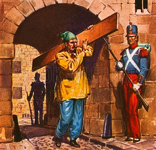 Napoleon III, the nephew of Napoleon Bonaparte, was put in prison as a young man for trying to seize power, but escaped out of Ham fortress disguised as a workman, when the prison was being repaired.