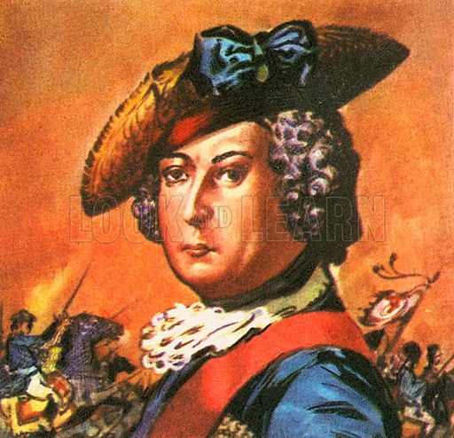 "Frederick the Great of Prussia, this king ascended the throne on May 31, 1740. He was known as ""The Great"" and died in 1786."