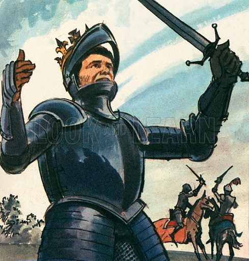 """""""A horse! A horse! My kingdom for a horse!""""  In this Shakespeare play, King Richard III speaks these words in battle. He died at the battle of Bosworth Field and was succeeded by Henry VII. Bosworth Field was the last battle of the Wars of the Roses."""