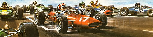 Modern motor racing is one of the world's top sports.