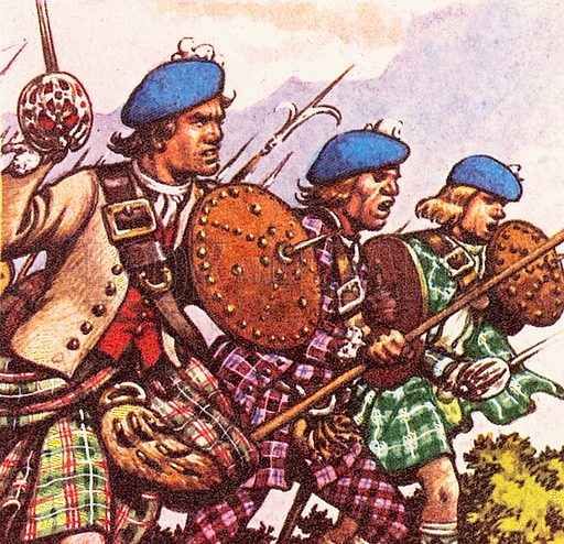 Bonnie Prince Charlie (1720-1788), also called the Young Pretender, was the great-grandson of King James II. His full name was Charles Edward Louis John Casimir Silvester Maria Stuart. He led a revolt against British rule and was defeated at the Battle of Culloden in April 1746.