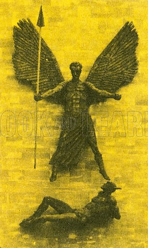 This powerful sculpture by Sir Jacob Epstein depicts St Michael slaying the Devil. It hangs on the exterior of Coventry Cathedral.