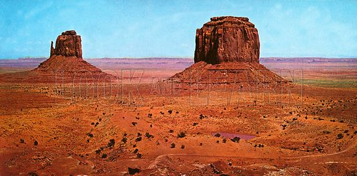 Monument Valley, picture, image, illustration