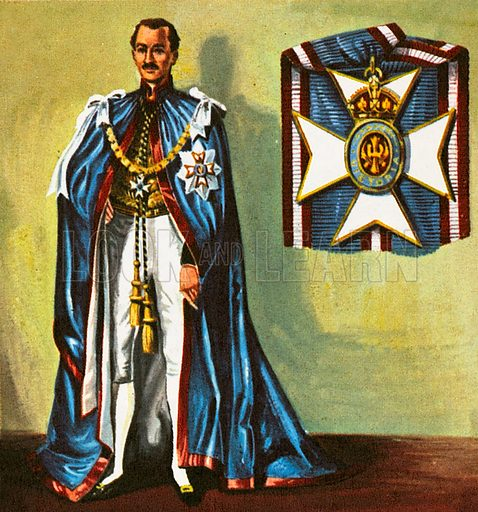 The man in the picture is a member of the one of the most distinguished orders of British Chivalry. He carries the title KCB. The Order of the Bath was founded in 1725 by George I. Its name recalls a mediaeval bathing ceremony that knights underwent for purity.