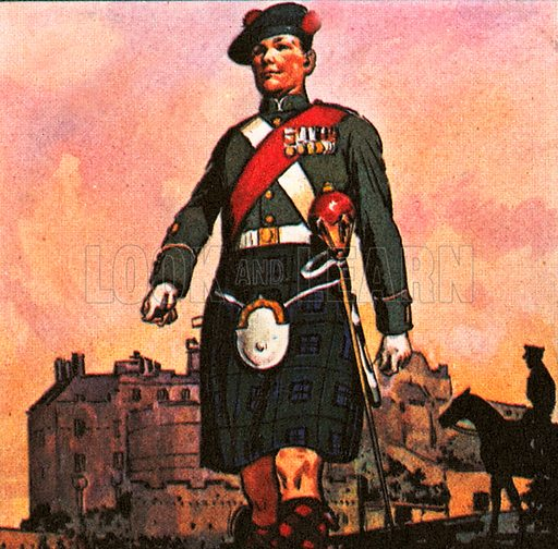 """This soldier belongs to Black Watch regiment which is one of the oldest and most famous in the British Army. The Black Watch was formed in 1739 to keep """"watch"""" in the Scottish Highlands, and from the dark colour of its tartan became known as the Black Watch."""