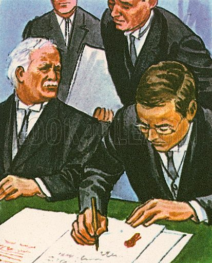 After years of bitterness and strife, a treaty was signed in 1921 that gave independence from Britain to twenty-six counties in Ireland. The new country was called the Irish Free State, which existed from 1922 to 1937, when it was renamed Eire.