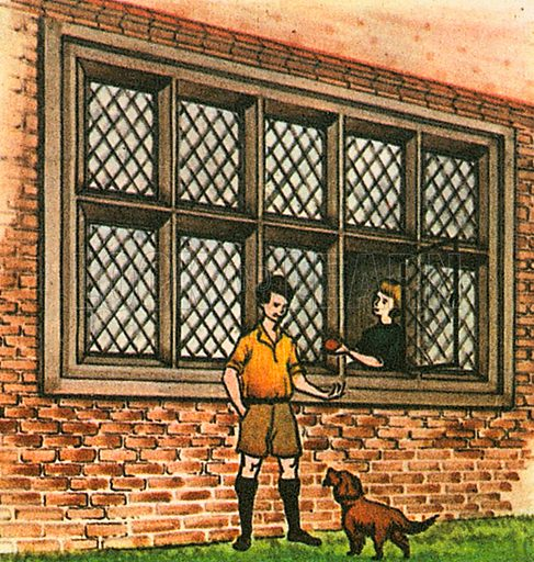 "Casement window popular in Elizabethan times--the 16th century. Nowadays, the term ""casement window"" can refer to any window that swings from a side hinge, like a door."