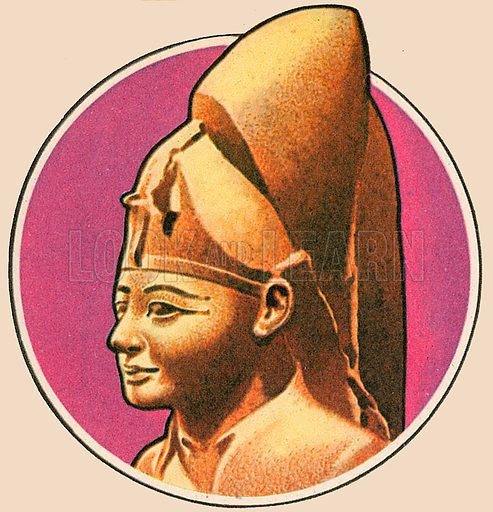 The man in the picture is King Rameses II. He ruled Egypt for 66 years and is known as Rameses the Great. He had 52 sons and in 1995 archaeologists working in the Valley of the Kings found a very large tomb which was built for many of them. He was long believed to be the Pharaoh of the Exodus of the Israelites from Egypt.