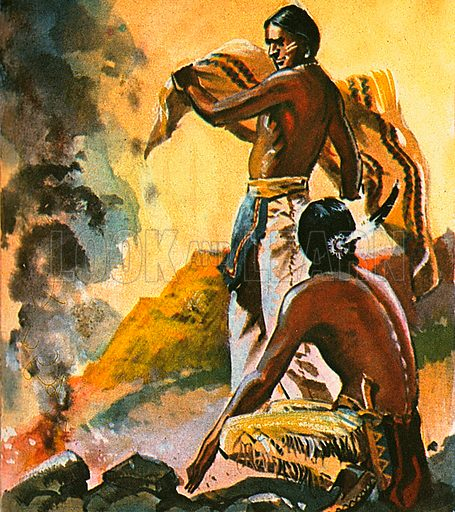 Native Americans sent messages by using a blanket to interrupt the sequence of smoke puffs from a fire. This communication system was called Smoke signals.