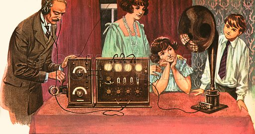 """Early radio receivers like the one in the picture look strange and cumbersome to our eyes today. In the 1950s radio was revolutionised by a device made of a wafer of a mineral called germanium and little pellets of another mineral, usually indium, aluminium or gallium. It was called a Transistor. The transistor was no bigger than a fingernail and almost unbreakable. It replaced fragile glass valves and allowed radios to become much smaller. The first """"transistor radios"""" were sold in the 1950s."""