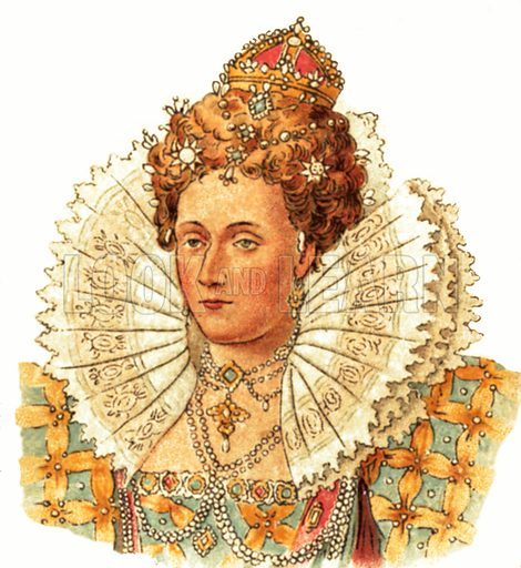 Queen Elizabeth I(1558–1603). Early 20th century trade cards.