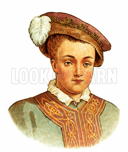 King Edward VI (1547-1553). Early 20th century trade cards.