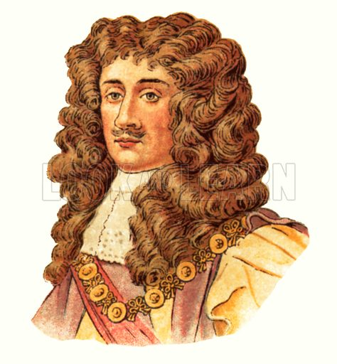 King Charles II(1660–1685). Early 20th century trade cards.