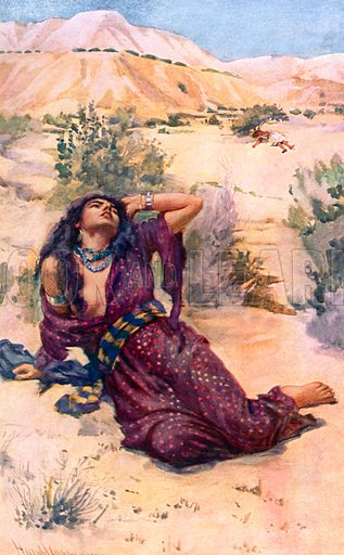 Hagar. Illustration in 'The Women of the Bible' (c 1920).
