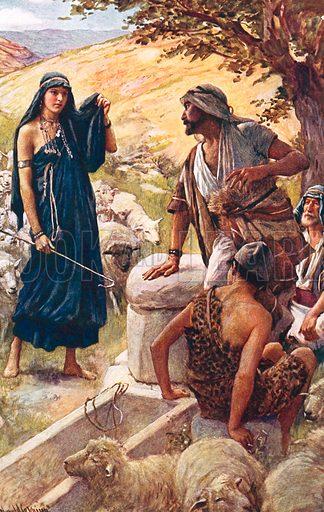 Rachel. Illustration in 'The Women of the Bible' (c 1920).