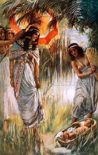 Pharaoh's daughter. Illustration in 'The Women of the Bible' (c 1920).