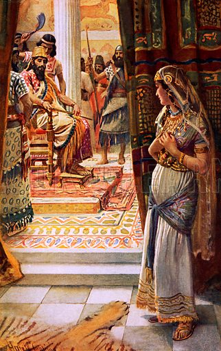 Esther. Illustration in 'The Women of the Bible' (c 1920).